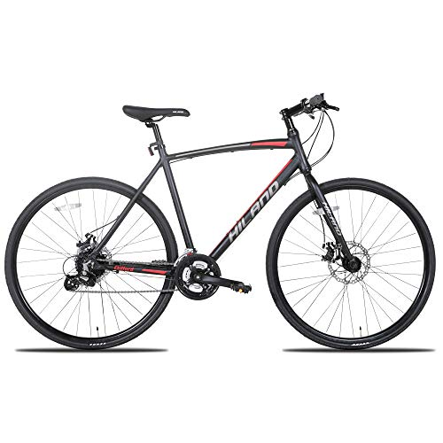 Hiland-Mens-Road-Hybrid-BikeAdult-Urban-Commuter-City-Bicycle-for-Men700C-Wheels-Shimano-24-speeds-0