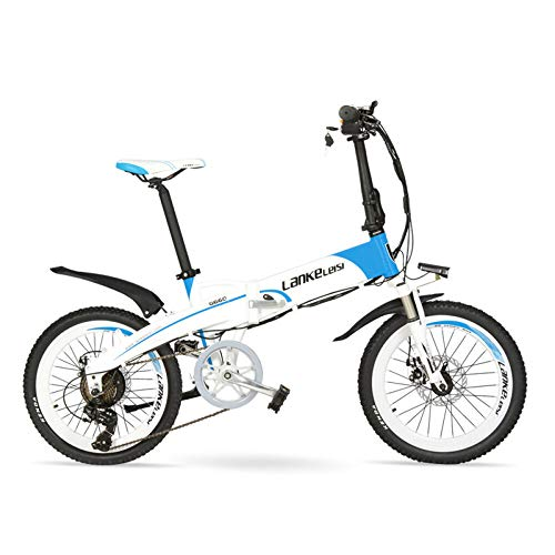 LANG-TU-20-Folding-Electric-Bike-Built-in-48V-Lithium-ion-Battery-Strong-Powerful-MotorAluminum-Alloy-Rim-FrameDisc-BrakesQuick-Release-0