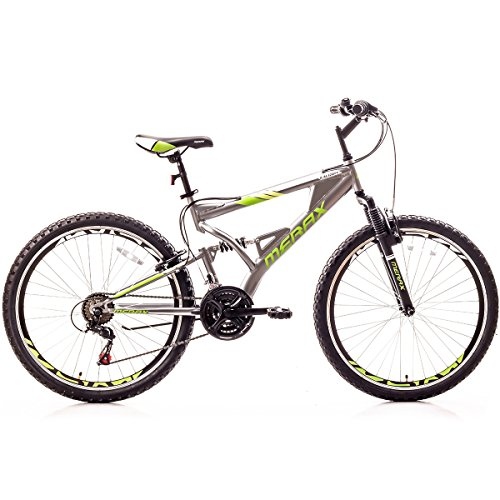 Merax-Falcon-Full-Suspension-Mountain-Bike-Aluminum-Frame-21-Speed-26-inch-Bicycle-Gray-Green-0