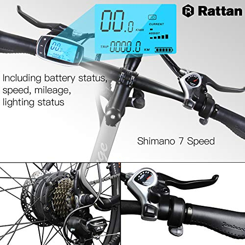 Rattan-26-inch-Aluminum-Electric-Mountain-Bike-Shimano-7-Speed-E-Bike-36V-104Ah-Lithium-Battery-350W-Electric-Bicycle-26-inch-Adult-Assisted-E-Bike-0-1