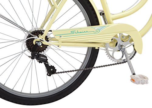 Schwinn-Perla-Womens-Cruiser-Bicycle-Featuring-18-Inch-Step-Through-Steel-Frame-and-7-Speed-Drivetrain-with-Front-and-Rear-Fenders-Rear-Rack-and-26-Inch-Wheels-Yellow-0-3