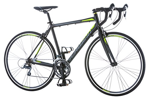 Schwinn-Phocus-1600-Drop-Bar-Road-Bicycle-for-Men-Featuring-56cmLarge-Aluminum-Step-Over-Frame-and-Carbon-Fiber-Fork-with-Shimano-16-Speed-Drivetrain-and-700c-Wheels-Black-0