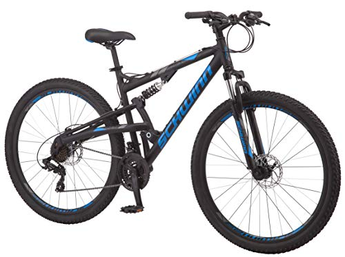 Schwinn-S29-Dual-Suspension-Mountain-Bike-Featuring-20-InchLarge-Aluminum-Frame-29-Inch-Wheels-with-Mechanical-Disc-Brakes-21-Speed-Shimano-Drivetrain-Matte-Black-0-0