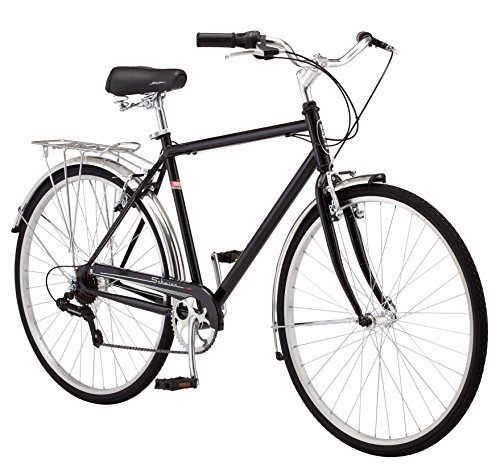 Schwinn-Wayfarer-Hybrid-Bicycle-Featuring-Retro-Styled-18-InchMedium-Steel-Step-Over-Frame-and-7-Speed-Drivetrain-with-Front-and-Rear-Fenders-Rear-Rack-and-700C-Wheels-Black-0