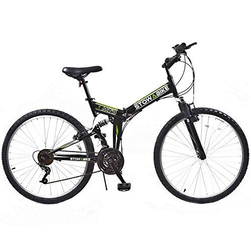 Stowabike-26-MTB-V2-Folding-Dual-Suspension-18-Speed-Shimano-Gears-Mountain-Bike-Black-0
