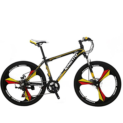VTSP-Mountain-Bike-21-Speed-26-inch-BicycleFork-Suspension-3-Knife-Double-Disc-Brakes-BicycleX3-MTB-Aluminum-Frame-Aluminum-Racing-Bicycle-Outdoor-Cycling-Ships-from-US-Warehouse-Yellow-0