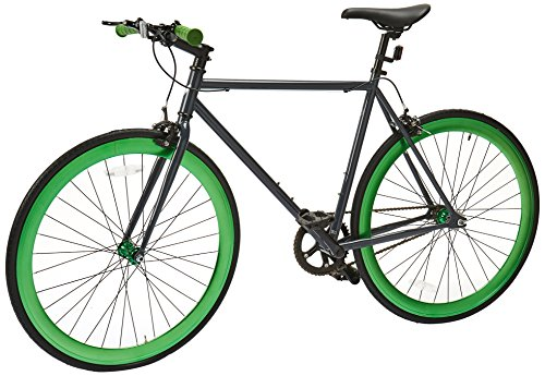 Vilano-Rampage-Fixed-Gear-Fixie-Single-Speed-Road-Bike-GreyGreen-Medium54cm-0