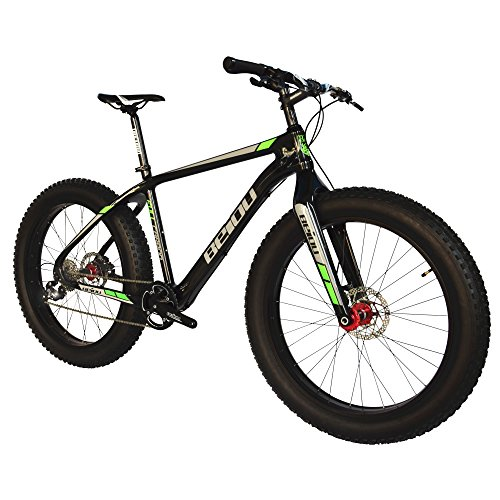 BEIOU-2017-Full-Carbon-Fat-Tire-Bicycle-Fat-Mountain-Bike-26-Inch-40-Tire-Mountain-Bicycle-19-Inch-SHI-Mano-Altus-9-Speed-145kg-T700-Glossy-3K-CB023-0-0