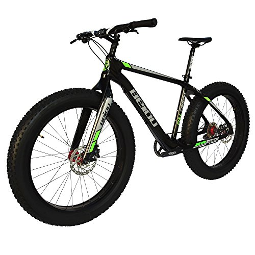 BEIOU-2017-Full-Carbon-Fat-Tire-Bicycle-Fat-Mountain-Bike-26-Inch-40-Tire-Mountain-Bicycle-19-Inch-SHI-Mano-Altus-9-Speed-145kg-T700-Glossy-3K-CB023-0-1