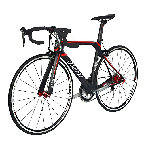 BEIOU-700C-Road-Bike-Shimano-105-5800-11S-Racing-Bicycle-T800-Carbon-Fiber-Bike-Ultra-Light-183lbs-CB013A-2-Matte-BlackRed-560mm-0-0