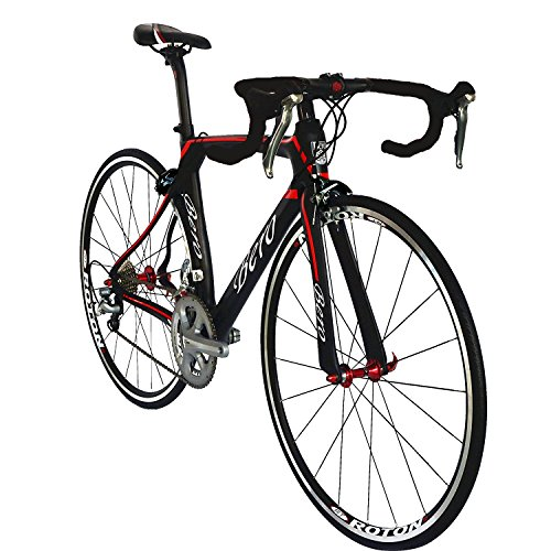 BEIOU-700C-Road-Bike-Shimano-105-5800-11S-Racing-Bicycle-T800-Carbon-Fiber-Bike-Ultra-Light-183lbs-CB013A-2-Matte-BlackRed-560mm-0-1