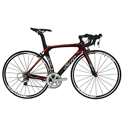 BEIOU-700C-Road-Bike-Shimano-105-5800-11S-Racing-Bicycle-T800-Carbon-Fiber-Bike-Ultra-Light-183lbs-CB013A-2-Matte-BlackRed-560mm-0