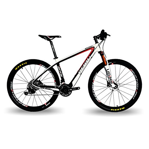 BEIOU-Carbon-275-Hardtail-Mountain-Bike-Shimano-Deore-M6000-3x10-Speed-650B-MTB-210-Tires-108kg-T800-Fiber-Ultralight-Frame-Matte-3K-CB020-6000-Matte-White-17-0