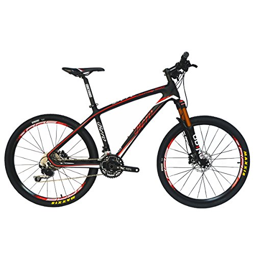 BEIOU-Carbon-Fiber-Mountain-Bike-Hardtail-MTB-1065-kg-Shimano-M6000-DEORE-30-Speed-Ultralight-Frame-RT-26Inch-Professional-Internal-Cable-Routing-Toray-T800-Carbon-Hubs-Matte-CB025A-19-Inch-0