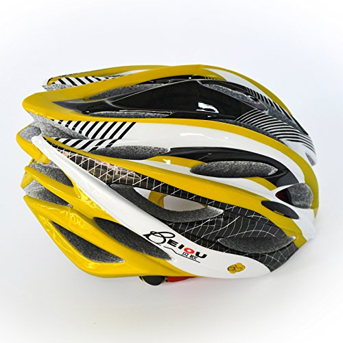 BEIOU-Unibody-Mountain-Bike-Road-Racing-Bike-Equipment-Cycling-Helmet-YELLOW-M-0