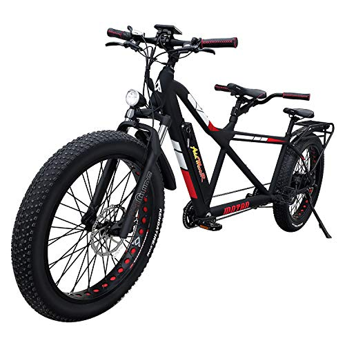 Addmotor-MOTAN-Adults-Electric-Bicycles-for-Women-Men-750W-26-Inch-Fat-Tires-Tandem-Bikes-with-Removable-Large-Capacity-Lithium-Ion-Battery-48V-145Ah-M-250-Two-Seater-Electric-Bikes-Carbon-Black-0