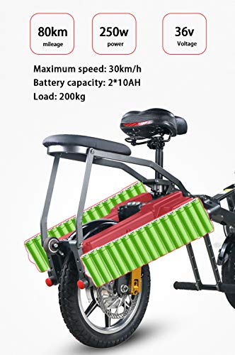 Electric-Bikes-for-Ladies-Folding-Collapsible-Frame-Adults-Unisex-Scooter-0-3