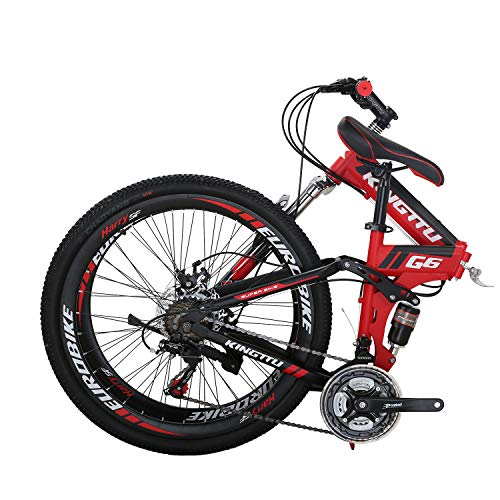 Eurobike-26-Full-Suspension-Mountain-Bike-21-Speed-Folding-Bicycle-Men-or-Women-MTB-G6-Red-0