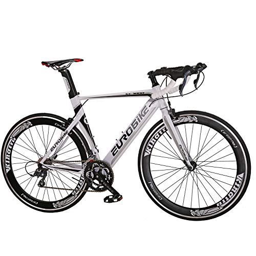 Eurobike-Aluminium-Road-Bike-16-Speed-Mens-Bicycle-700C-Wheels-54cm-Frame-Racing-Commuter-0