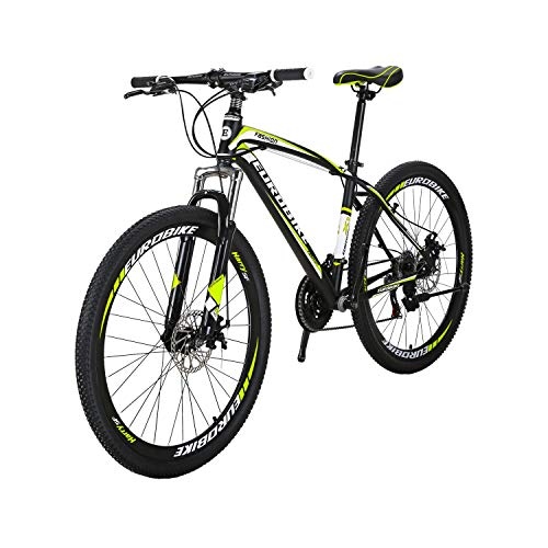 Eurobike-BICYCE-X1-275inch-Mountain-Bike-21-Speed-Shift-Left-3-Right-7-Frame-Mountain-Bicycle-Yellow-0