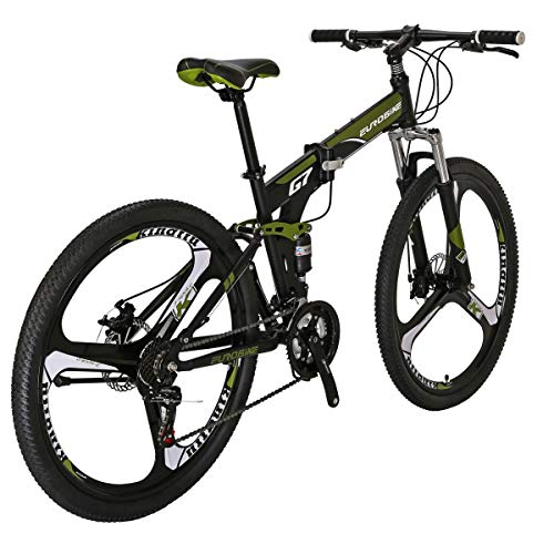 Eurobike-Folding-Bike-TSM-G7-Bicycle-275Inch-Dual-Disc-Brake-Bike-Armygerrn-3-Spoke-0