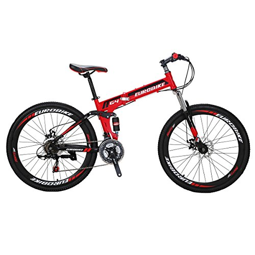 Eurobike-Mountain-Bike-G4-21-Speed-26Inches-Folding-Bike-Red-0
