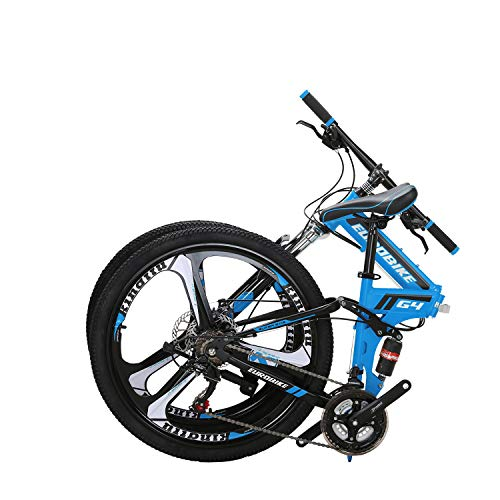 Eurobike-OBK-G4-26-Full-Suspension-Folding-Mountain-Bike-21-Speed-Bicycle-Men-or-Women-MTB-Foldable-Frame-Blue-0