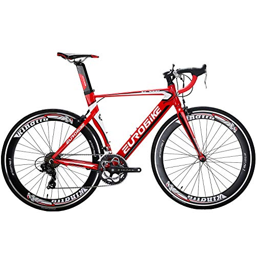 Eurobike-OBK-Lightweight-Aluminium-Road-Bike-700C-Wheels-Commuter-Cycling-Bicycle-14-Speed-54cm-Red-0-0