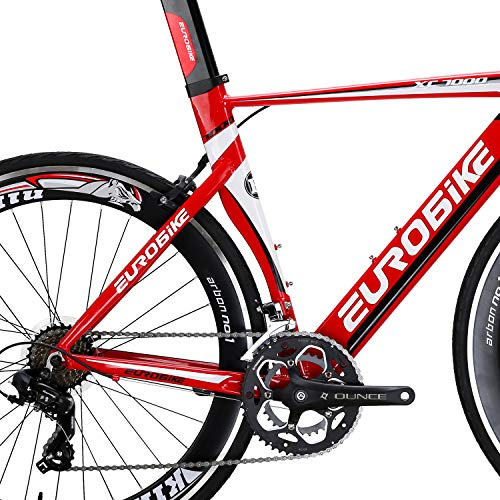 Eurobike-OBK-Lightweight-Aluminium-Road-Bike-700C-Wheels-Commuter-Cycling-Bicycle-14-Speed-54cm-Red-0-3