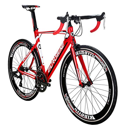 Eurobike-OBK-Lightweight-Aluminium-Road-Bike-700C-Wheels-Commuter-Cycling-Bicycle-14-Speed-54cm-Red-0