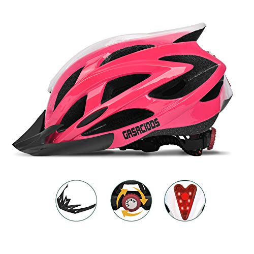 GASACIODS-Bike-Helmet-CPSC-Certified-Adjustable-Lightweight-Bicycle-Helmets-Specialized-Cycling-Helmet-for-Adult-MenWomen-Road-and-Mountain-Bike-with-Detachable-VisorRear-LED-Light-0