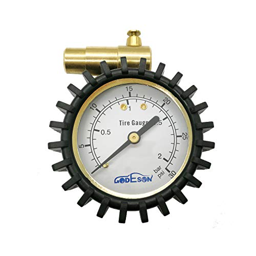GODESON-Presta-Valve-Pressure-Gauge-with-Air-Pressure-Relief-for-Mountain-Bicycle-Fat-TiresLow-Pressure-Range-to-30-PSI2BAR-0