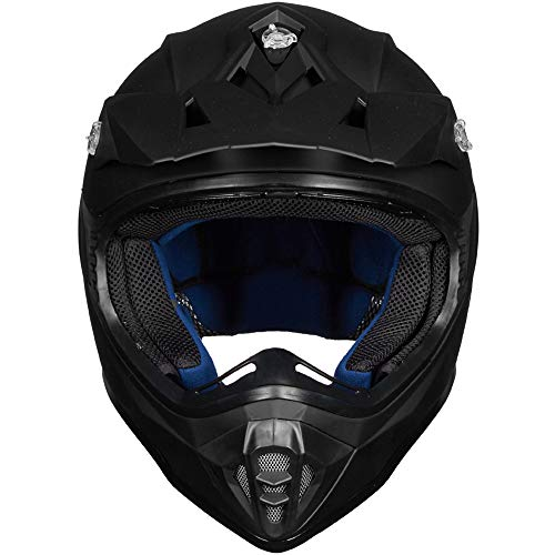 ILM-Adult-ATV-Motocross-Dirt-Bike-Motorcycle-BMX-MX-Downhill-Off-Road-MTB-Mountain-Bike-Helmet-DOT-Approved-MATTE-BLACK-Adult-XXL-0-0