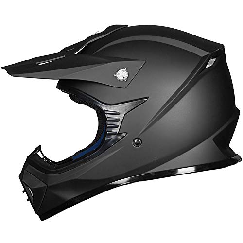 ILM-Adult-ATV-Motocross-Dirt-Bike-Motorcycle-BMX-MX-Downhill-Off-Road-MTB-Mountain-Bike-Helmet-DOT-Approved-MATTE-BLACK-Adult-XXL-0-1