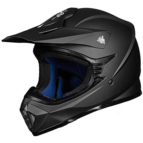 ILM-Adult-ATV-Motocross-Dirt-Bike-Motorcycle-BMX-MX-Downhill-Off-Road-MTB-Mountain-Bike-Helmet-DOT-Approved-MATTE-BLACK-Adult-XXL-0