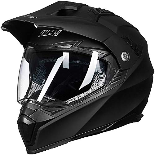 ILM-Off-Road-Motorcycle-Dual-Sport-Helmet-Full-Face-Sun-Visor-Dirt-Bike-ATV-Motocross-DOT-Approved-XL-Matte-Black-0