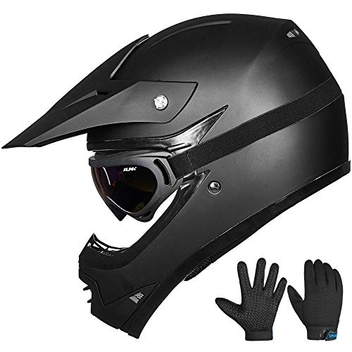 ILM-Youth-Kids-ATV-Motocross-Dirt-Bike-Motorcycle-BMX-Downhill-Off-Road-MTB-Mountain-Bike-Helmet-DOT-Approved-Youth-XL-Matte-Black-0