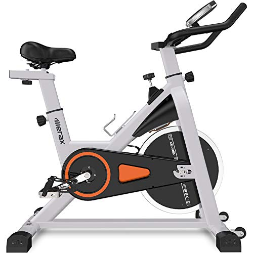 Merax-Deluxe-Indoor-Cycling-Bike-Cycle-Trainer-Exercise-Bicycle-Black-Red-0