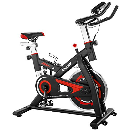 Merax-Exercise-Bike-Stationary-Indoor-Exercise-Cycling-Bike-with-28lbs-Flywheel-Quiet-Belt-Drive-Workout-Bike-for-Home-Cardio-Gym-0-0