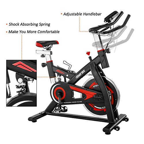 Merax-Exercise-Bike-Stationary-Indoor-Exercise-Cycling-Bike-with-28lbs-Flywheel-Quiet-Belt-Drive-Workout-Bike-for-Home-Cardio-Gym-0-2