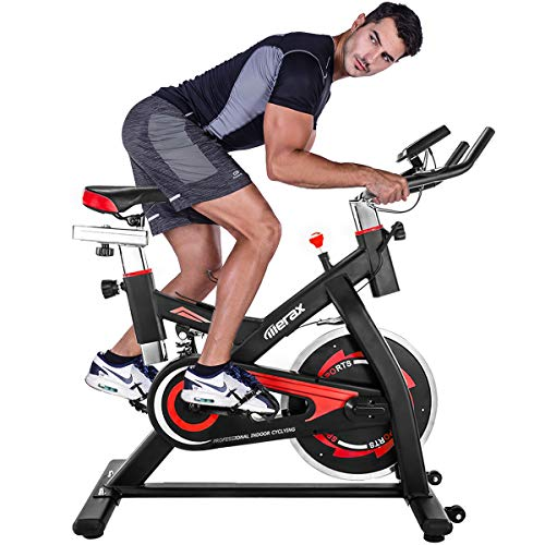 Merax-Exercise-Bike-Stationary-Indoor-Exercise-Cycling-Bike-with-28lbs-Flywheel-Quiet-Belt-Drive-Workout-Bike-for-Home-Cardio-Gym-0