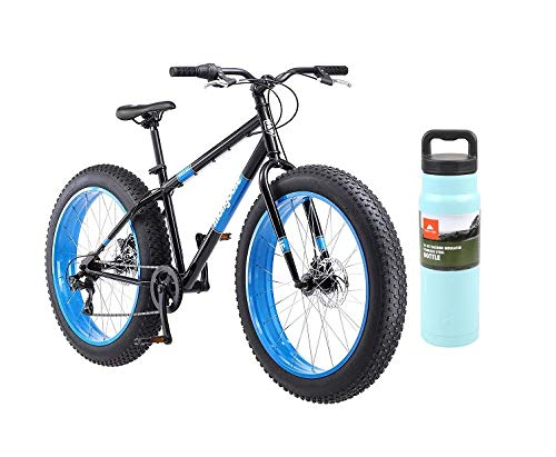 Mongoose-Dolomite-Fat-Tire-Mountain-Bike-with-Teal-Bottle-Black-0