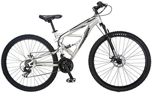 Mongoose-Impasse-Full-Dual-Suspension-Mountain-Bike-Featuring-18-InchMedium-Aluminum-Frame-and-29-Inch-Wheels-with-Disc-Brakes-Silver-Renewed-0