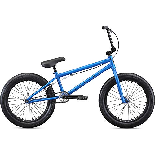Mongoose-Legion-Street-Freestyle-BMX-Bike-Line-for-Beginner-to-Advanced-Riders-Hi-Ten-Steel-or-4130-Chromoly-Frame-Micro-Drive-25x9T-BMX-Gearing-U-Brakes-with-Removable-Mounts-and-20-Inch-Wheels-0