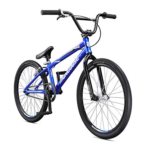 Mongoose-Title-24-BMX-Race-Bike-for-Beginner-or-Returning-Riders-Featuring-Lightweight-Tectonic-T1-Aluminum-Frame-and-Internal-Cable-Routing-with-24-Inch-Wheels-Blue-0