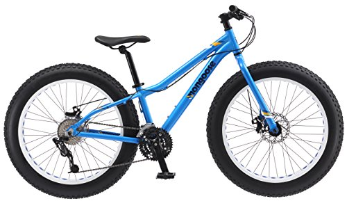Mongoose-Vinson-Fat-Tire-Mountain-Bike-Featuring-Rigid-14-Inch-Aluminum-Frame-24-Speed-ShimanoSRAM-X4-Drivetrain-Dual-Mechanical-Disc-Brakes-and-Alloy-24x4-Inch-Wheels-Blue-0