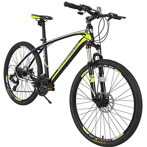 Mountain-Bike-24-Speed-26-Bicycle-for-Men-and-Women-with-Aluminum-Alloy-Frame-and-Integrated-Customized-Rear-Hook-Claw-FR-Brakes-Shimano-Drivetrain-Road-Bicycles-Black-Green-24-Speed-0