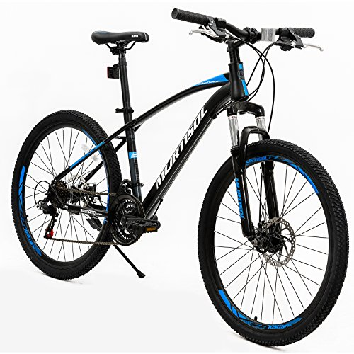 Murtisol-Mountain-Bike-26-Hybrid-Bicycle-with-Dual-Disc-Brake21-Speeds-Derailleur-Designed-Cool-Frame-Adjustable-SeatBlue-Black-0