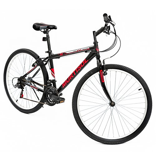 Murtisol-Mountain-Bike-26-inches-Hybrid-Bicycle-Aluminum-Commuter-Bike-with-18-Speed-DerailleurSolid-FrameAdjustable-SeatQuick-Release-RacingBlueBlack-0-0