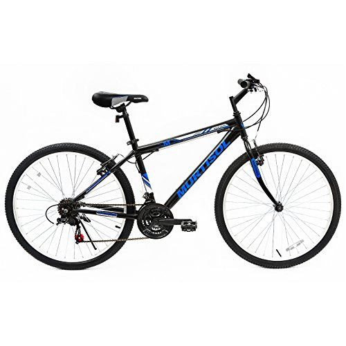 Murtisol-Mountain-Bike-26-inches-Hybrid-Bicycle-Aluminum-Commuter-Bike-with-18-Speed-DerailleurSolid-FrameAdjustable-SeatQuick-Release-RacingBlueBlack-0